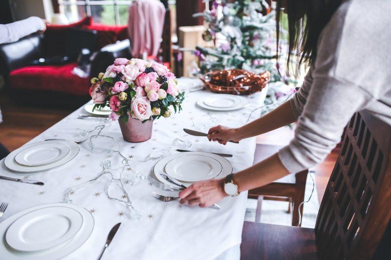 Wedding Planning setting table