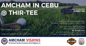 AMCHAM Cebu Thir-Tee Golf Tournament Sept 3 2018