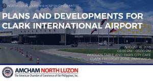 AMCHAM_ Plans and Developments for Clark International Airport Aug 16 2018
