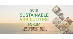 ECCP_ Sustainable Agriculture Forum 2018