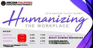 2018 AMCHAM Talent Summit Humanizing the Workplace