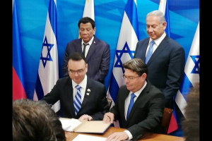 Duterte Trip to Israel