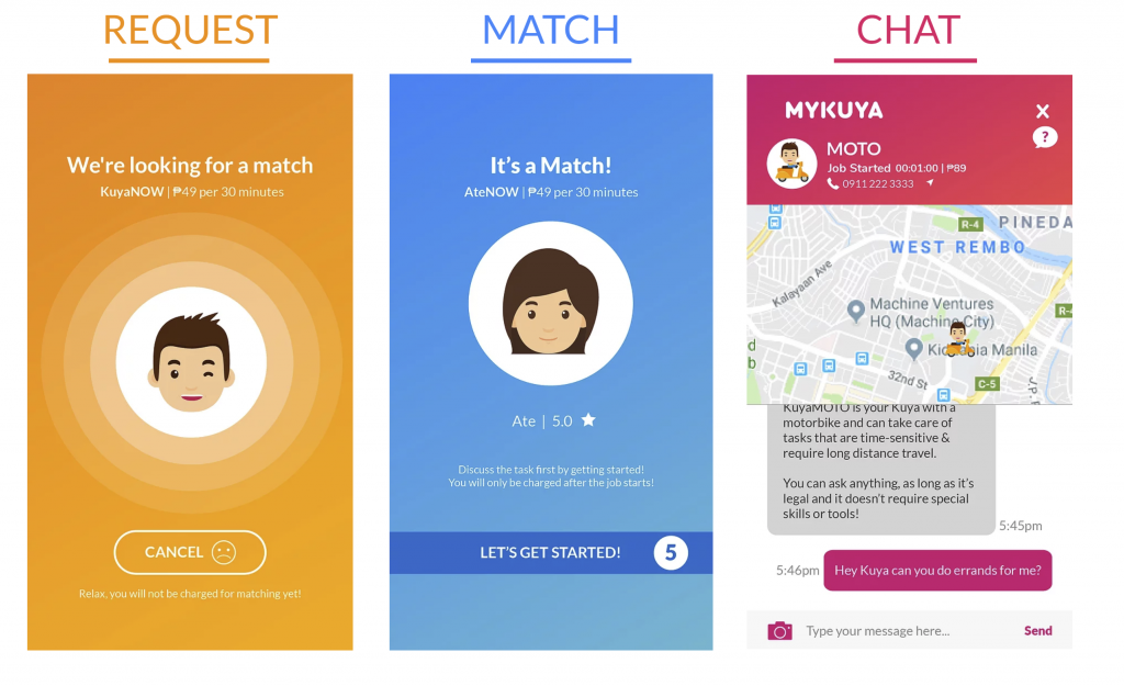 MyKuya app screenshot